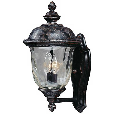 Carriage house collection 16 high outdoor wall light for Early american outdoor lighting