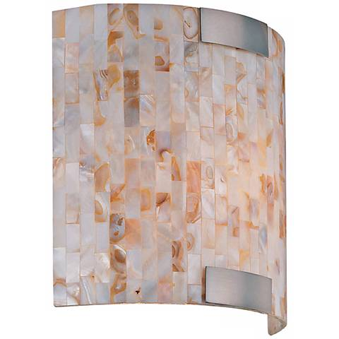 Lite Source Shell Mosaic ADA Compliant Curved Sconce