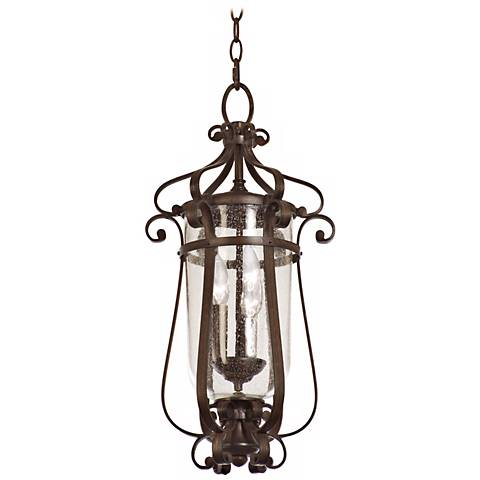 """Hartford Collection Bronze 22"""" High Outdoor Hanging Light"""