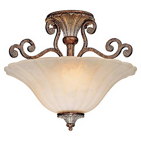 "Savoy House St Laurence 16"" Wide Semiflush Ceiling Light"