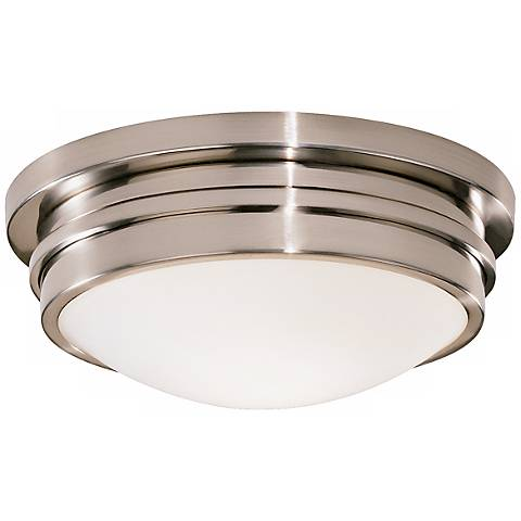 """Roderick Collection Silver 10"""" Wide Flushmount Ceiling Light"""