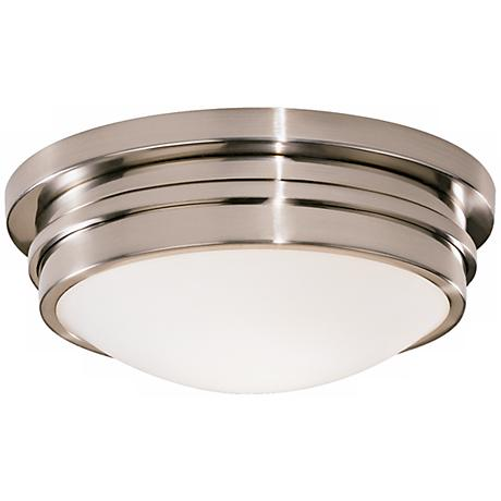 "Roderick Collection Silver 10"" Wide Flushmount Ceiling Light"