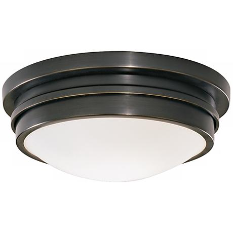 "Roderick Collection Bronze 10"" Wide Flushmount Ceiling Light"