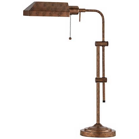 Rust Adjustable Pole Pharmacy Metal Table Lamp