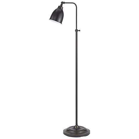 Dark Bronze Adjustable Pharmacy Floor Lamp