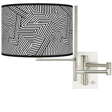 Tempo Labyrinth Plug-in Swing Arm Wall Lamp