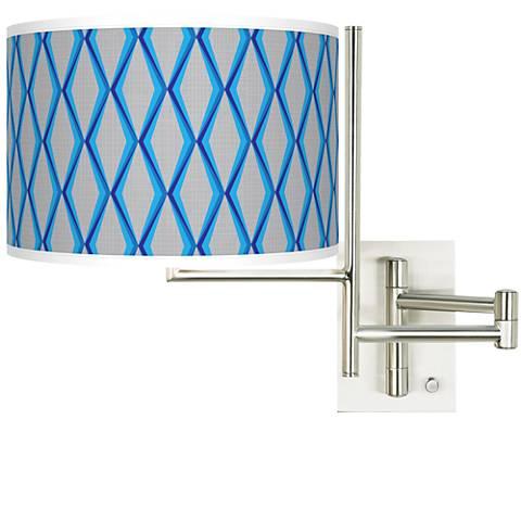 Tempo Bleu Matrix Plug-in Swing Arm Wall Light