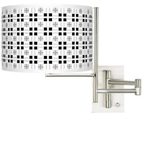 Tempo Quadrant Plug-in Swing Arm Wall Lamp