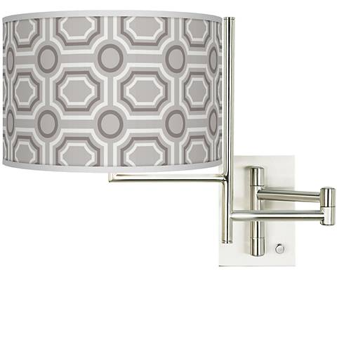 Tempo Luxe Tile Plug-in Swing Arm Wall Light