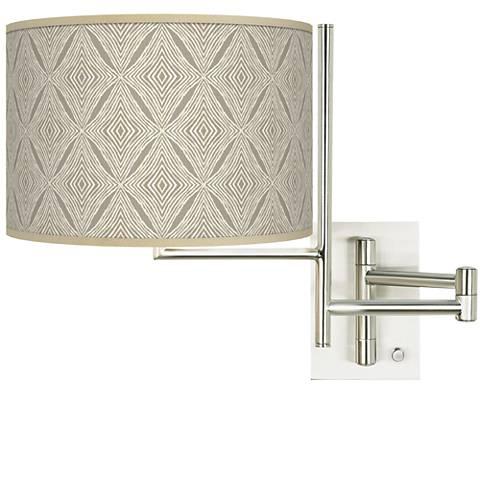 Tempo Moroccan Diamonds Plug-in Swing Arm Wall Lamp