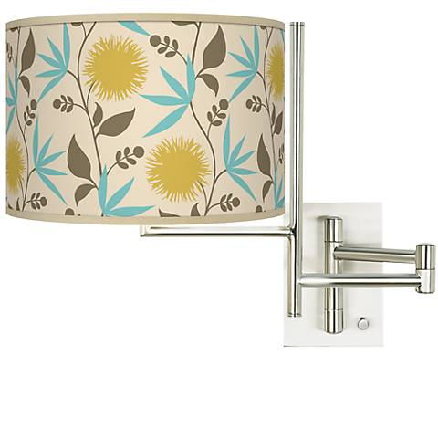 Seedling by thomaspaul Dahlia Plug-in Swing Arm Wall Light