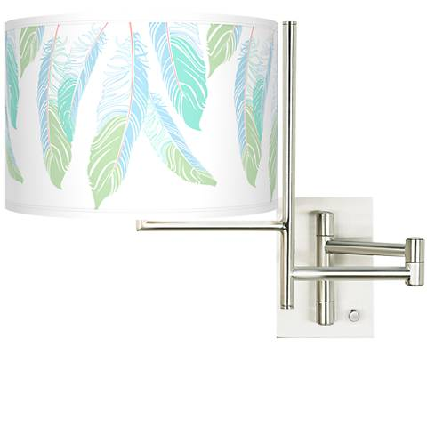 Tempo Light as a Feather Plug-in Swing Arm Wall Light