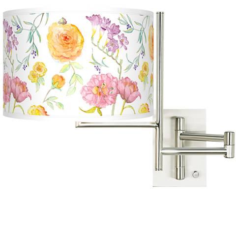 Tempo Spring Garden Plug-in Swing Arm Wall Light