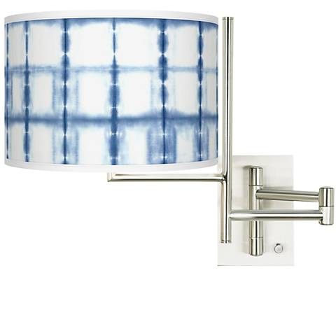 Tempo Blue Mist Plug-in Swing Arm Wall Lamp