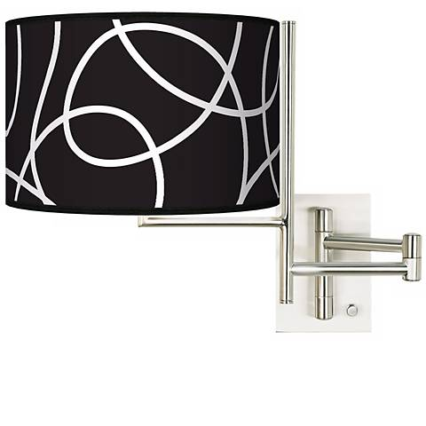 Tempo Abstract Plug-in Swing Arm Wall Light