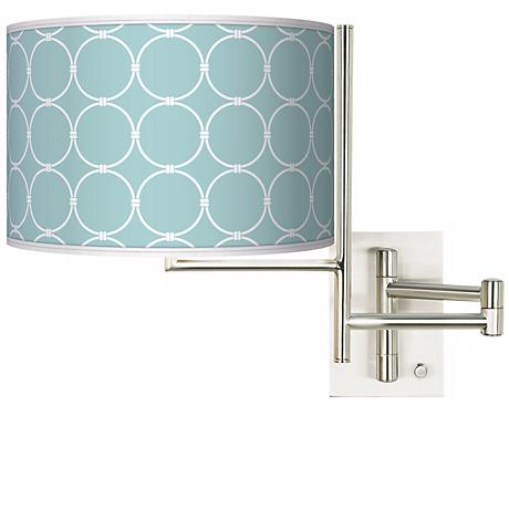 Tempo Aqua Interlace Plug-in Swing Arm Wall Light
