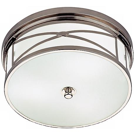 """Robert Abbey Chase 15"""" Wide Nickel Flushmount Ceiling Light"""