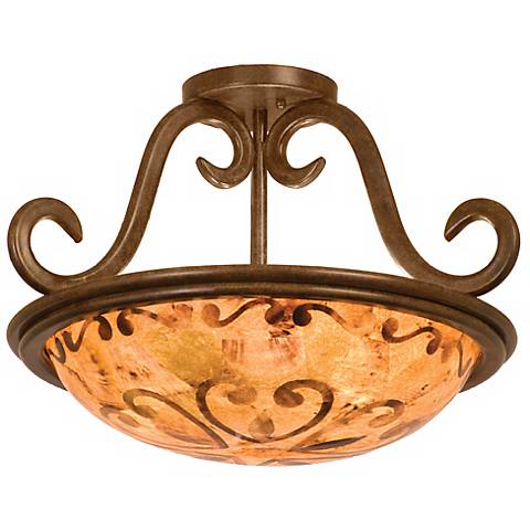 """Santa Barbara Collection 19"""" Wide Ceiling Light Fixture"""