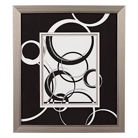 Black and White Spheres B Framed Wall Art