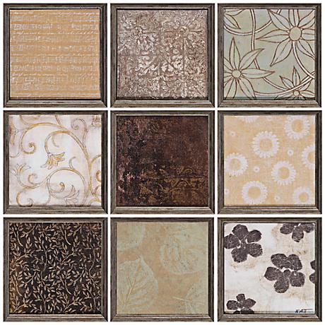 Set of 9 Nature Patterns Wall Art Panels