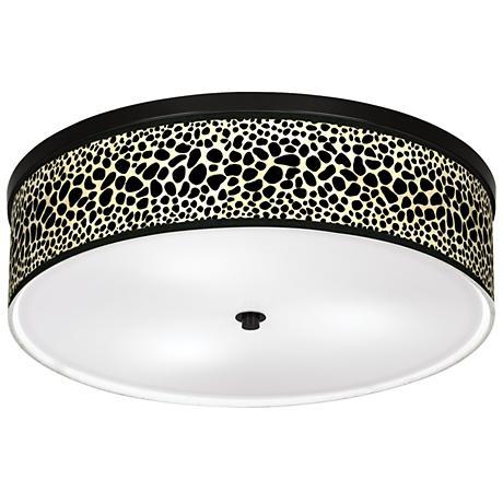 "Leopard Giclee 20 1/4"" Wide Ceiling Light"