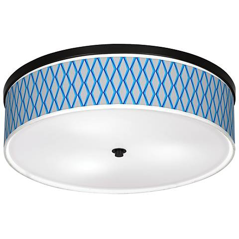 "Bleu Matrix Giclee 20 1/4"" Wide Ceiling Light"