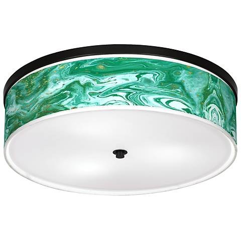 "Malachite Giclee 20 1/4"" Wide Ceiling Light"