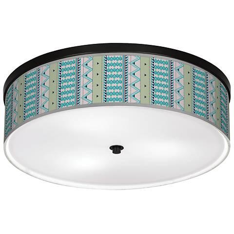 "Geo Metrix Giclee 20 1/4"" Wide Ceiling Light"