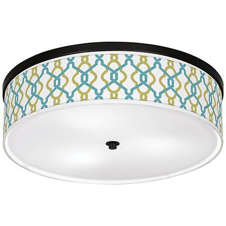 """Hyper Links Giclee 20 1/4"""" Wide Ceiling Light"""