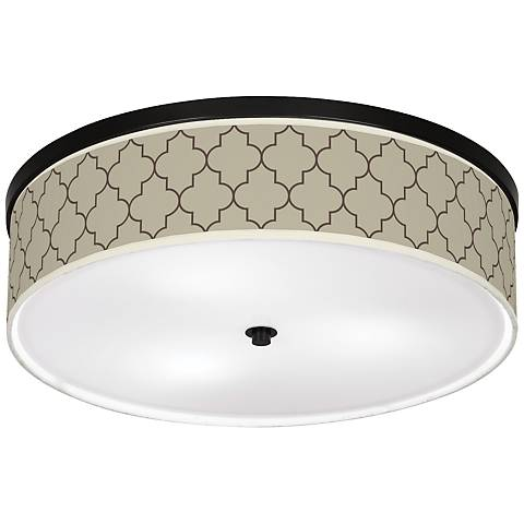 "Tangier Taupe Giclee 20 1/4"" Wide Ceiling Light"