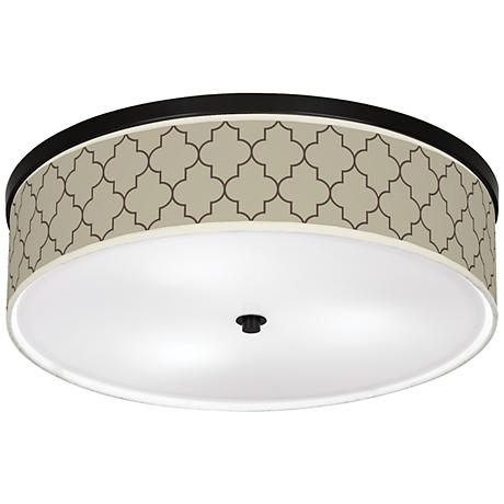"""Tangier Taupe Giclee 20 1/4"""" Wide Ceiling Light"""