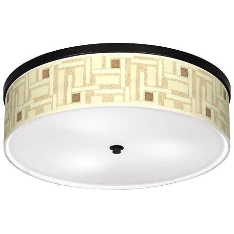 "Organic Strands Giclee 20 1/4"" Wide Ceiling Light"