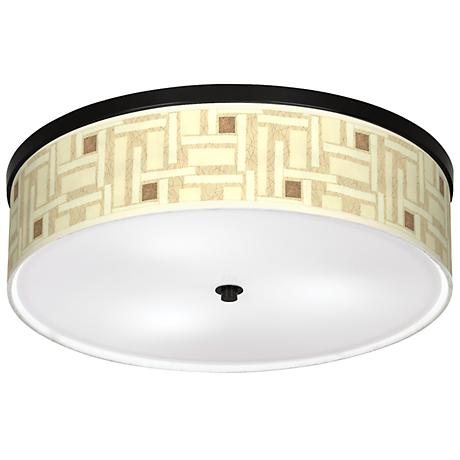 """Organic Strands Giclee 20 1/4"""" Wide Ceiling Light"""
