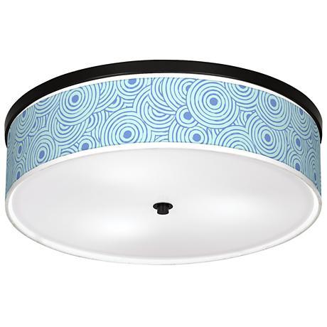 "Circle Daze Giclee 20 1/4"" Wide Ceiling Light"
