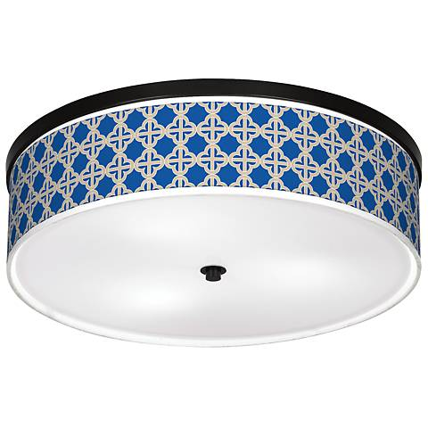 """Four Corners Giclee 20 1/4"""" Wide Ceiling Light"""