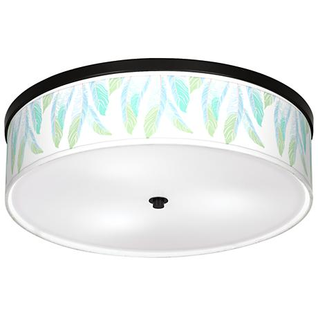 """Light as a Feather Giclee 20 1/4"""" Wide Ceiling Light"""