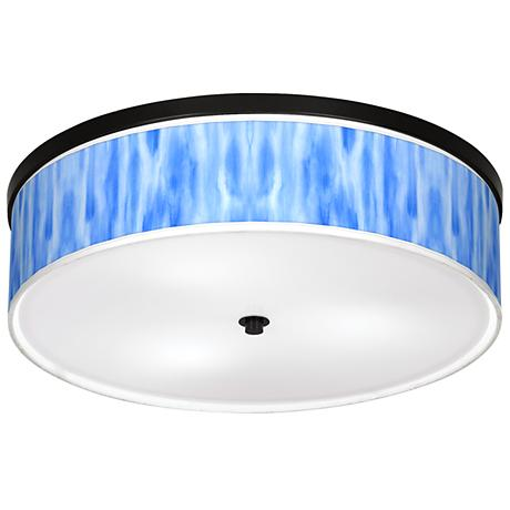 "Blue Tide Giclee 20 1/4"" Wide Ceiling Light"
