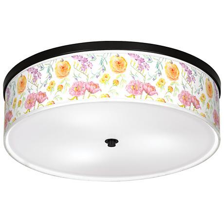 "Spring Garden Giclee 20 1/4"" Wide Ceiling Light"