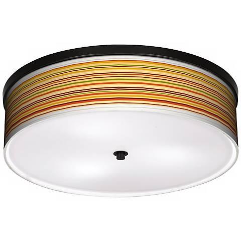 """Harvest Stripe 20 1/4"""" Wide CFL Bronze Ceiling Light"""