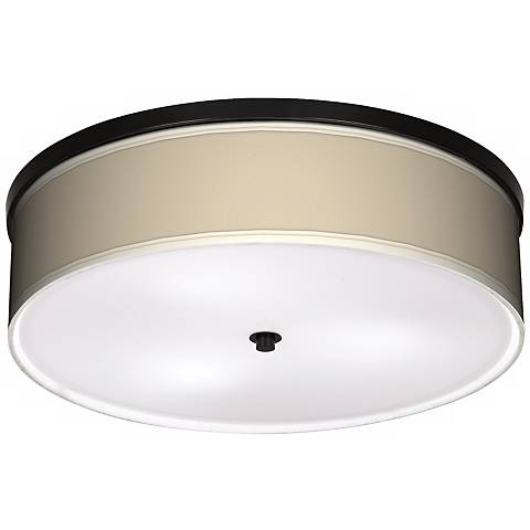 "Softer Tan 20 1/4"" Wide CFL Bronze Ceiling Light"