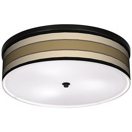 """Tones Of Beige 20 1/4"""" Wide CFL Bronze Ceiling Light"""
