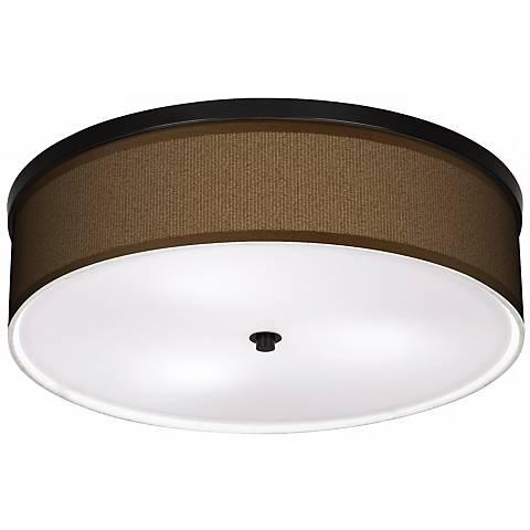 "Khaki 20 1/4"" Wide CFL Bronze Ceiling Light"