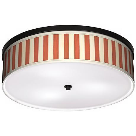 "Seaside Stripe Red 20 1/4"" Wide CFL Bronze Ceiling Light"