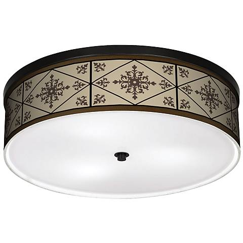 """Chambly 20 1/4"""" Wide CFL Bronze Ceiling Light"""
