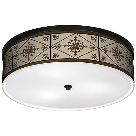 "Chambly 20 1/4"" Wide CFL Bronze Ceiling Light"