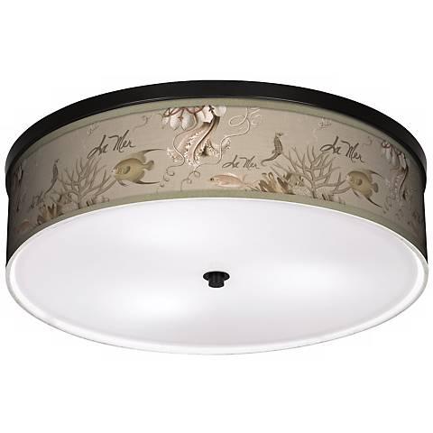 "La Mer Jellyfish 20 1/4"" Wide CFL Bronze Ceiling Light"