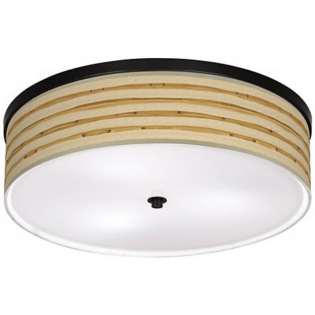 """Bamboo Wrap Giclee 20 1/4"""" Wide CFL Bronze Ceiling Light"""