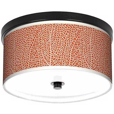 """Stacy Garcia Seafan Coral Giclee 10 1/4"""" Wide Ceiling Light"""
