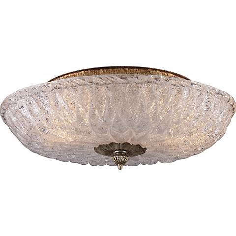 "Providence Antique Silver 15"" Wide Ceiling Light Fixture"