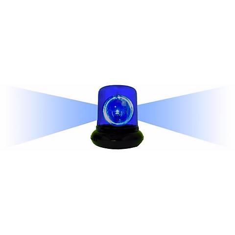 Blue Spinning Police Beacon Light